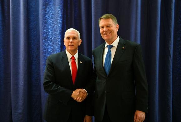 Mike Pencevel találkozott Klaus Iohannis